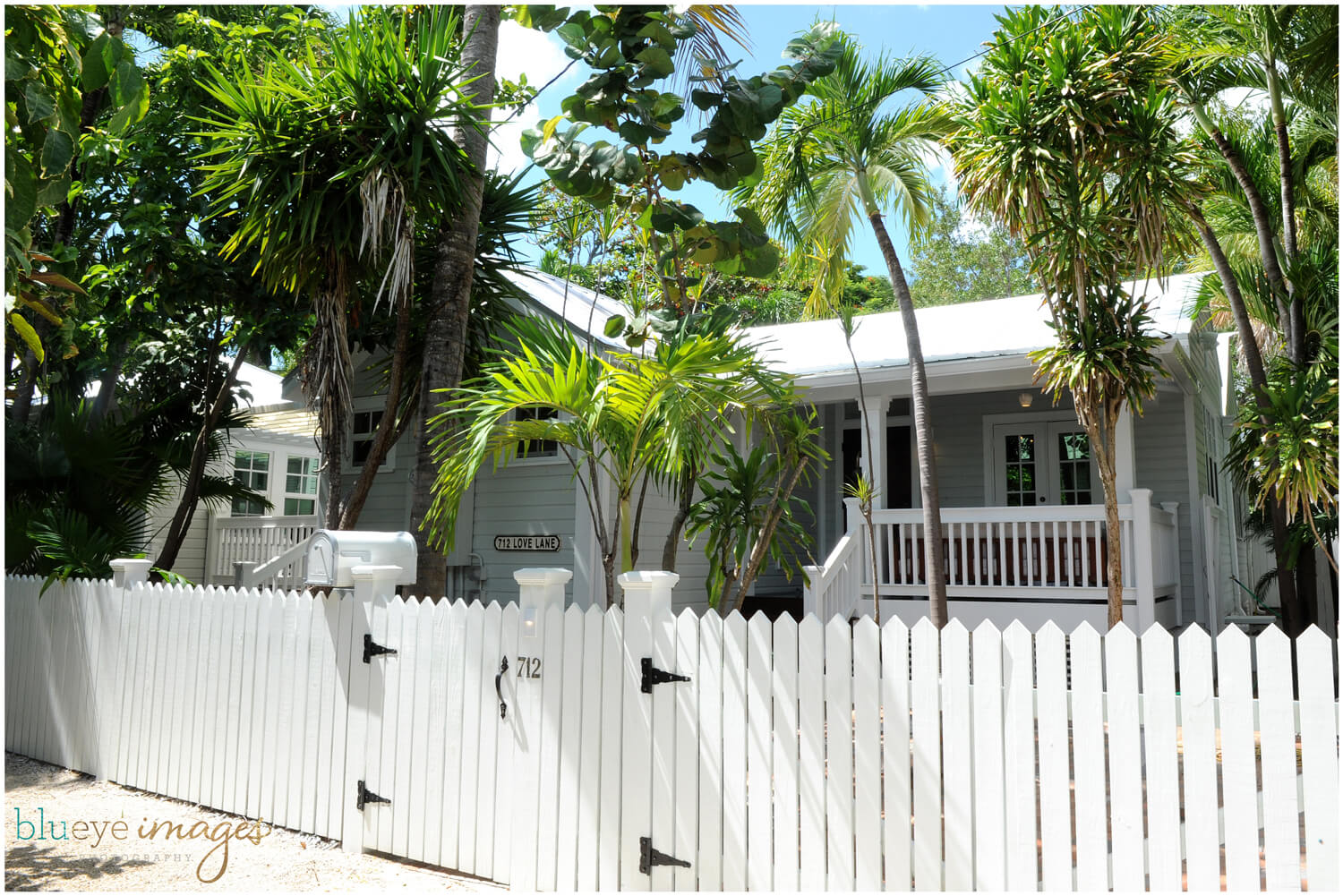 Exterior of Love Lane house in Key West