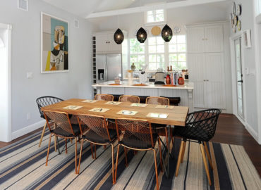 renovated dining area and kitchen on Love Lane