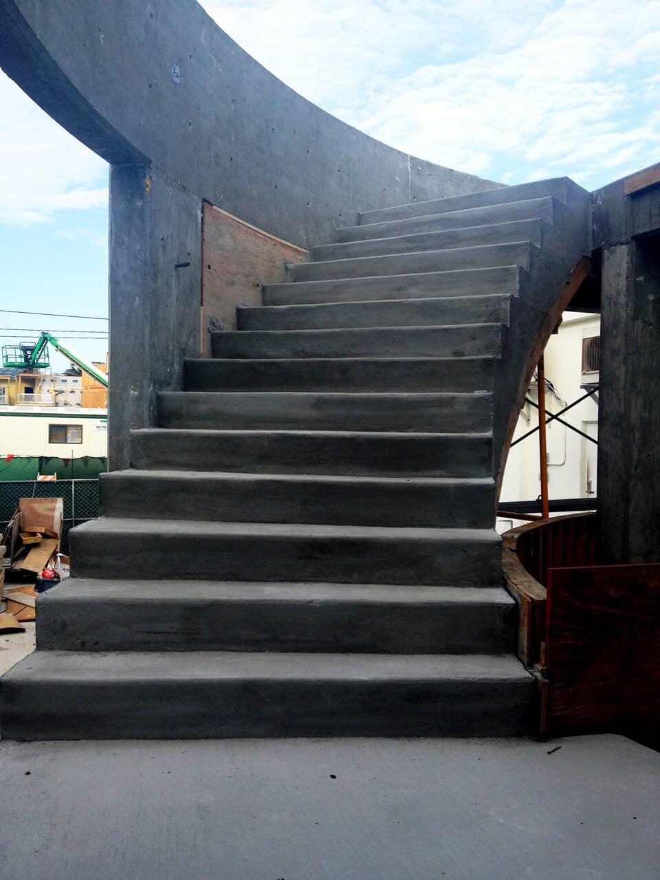Concrete Staircase of the Waterfront Brewery