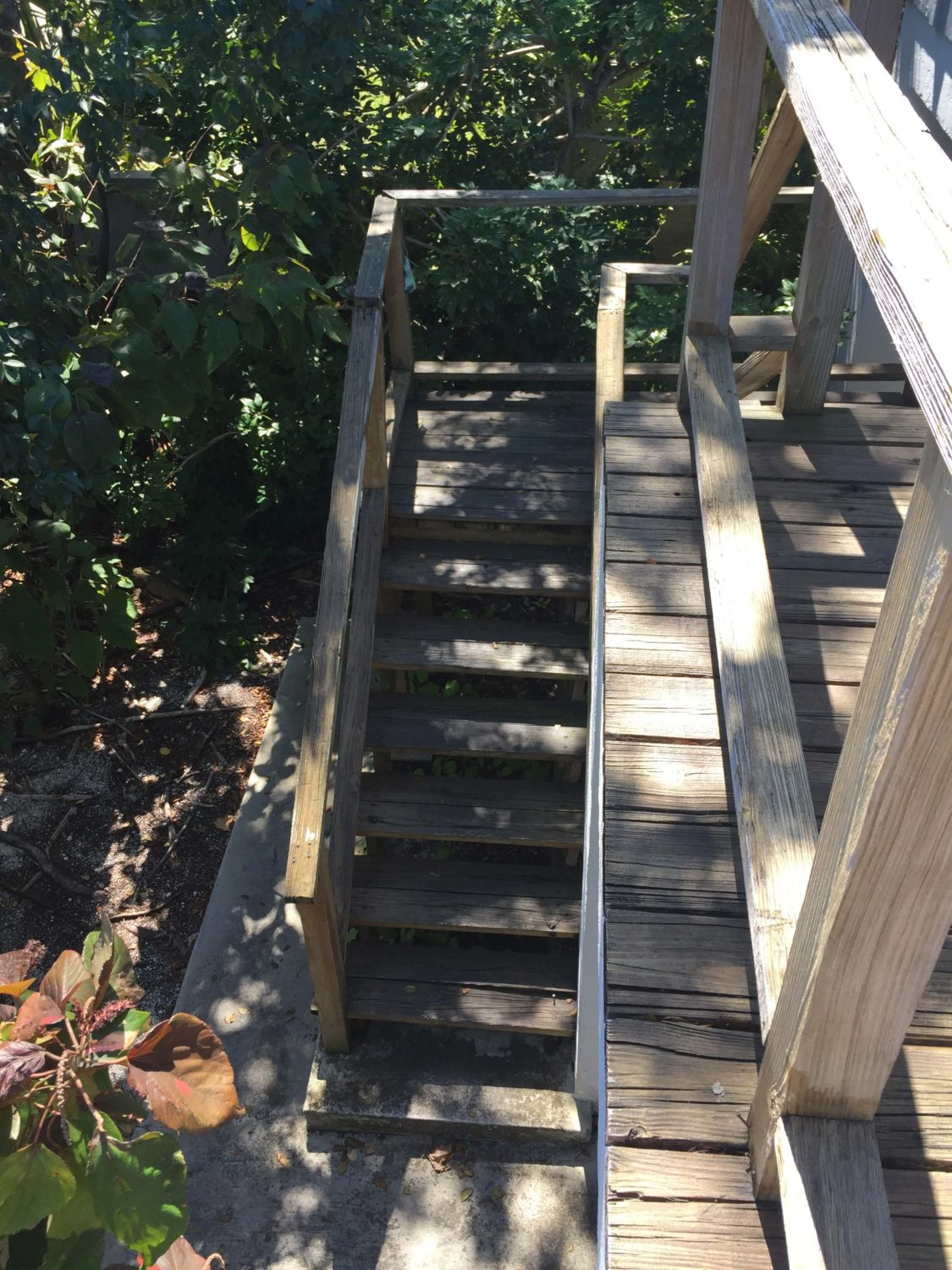 Stair Replacement Before Photo - Lower