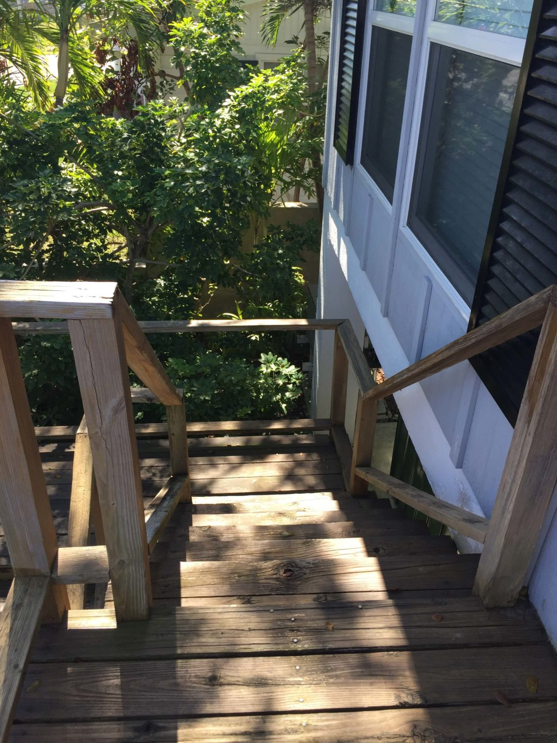 Stair Replacement Before Photo - Treads and Rails