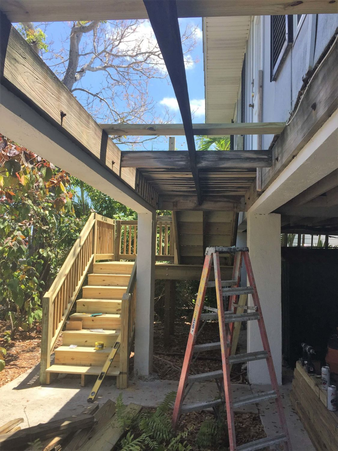 Stair Replacement Progress Photo - Overall