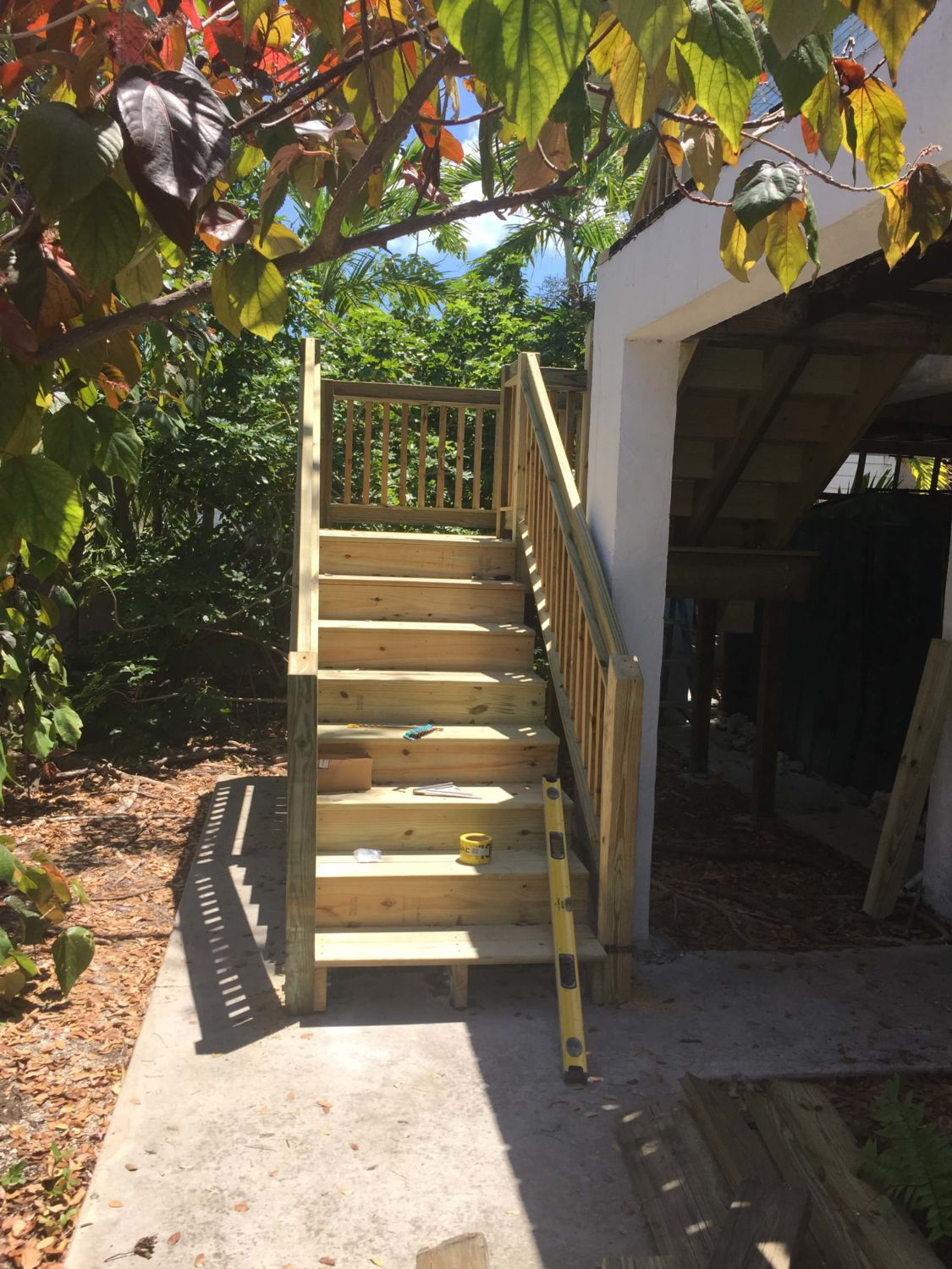 Stair Replacement Progress Photo - Lower