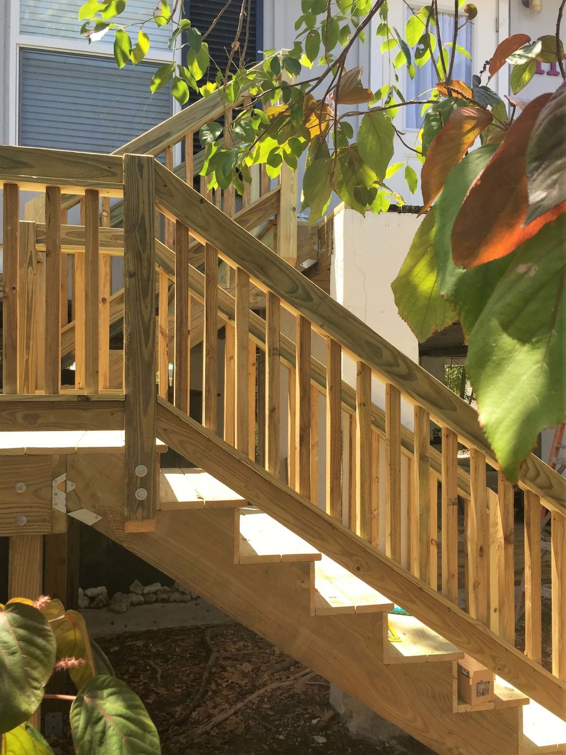 Stair Replacement Progress Photo - Rails