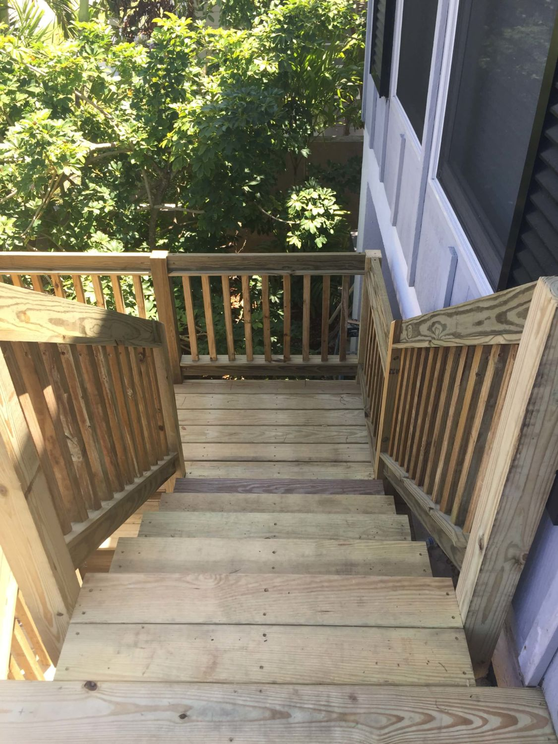 Stair Replacement Progress Photo